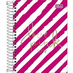 Agenda Diaria 2019 Tilibra Love Pink Diagonal