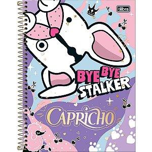 Caderno Universitário Tilibra Capricho Bye Bye 10 materias