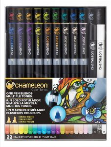 Marcadores Chameleon Color Tones - Kit Deluxe 22 Canetas