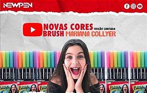 Estojo Canetas Brush Newpen Pastel Mariana Collyer - Edição Limitada