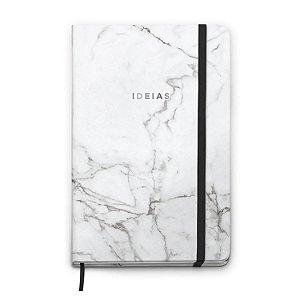 Caderneta Cicero Marmore Pontado Branco