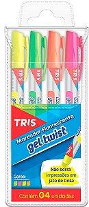 Conjunto Marca Texto Tris Gel Twist 4 Cores