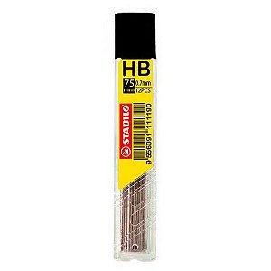 Tubo com 12 Minas de Grafite HB Stabilo para Lapiseira 0.7mm