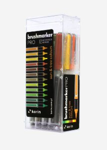 Conjunto Marcador Ponta Pincel Karin Brushmarker Pro 12 Sun Tree Colours