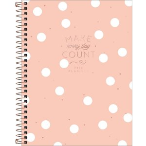 Planner Tilibra Soho Permanente Make Every Day Count Salmão