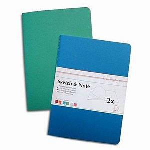 Caderneta de Desenho Hahnemuhle A6 125g Sketch & Note Azul/Verde