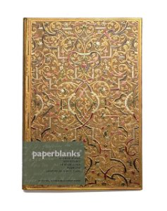 Caderno Premium Paperblanks Address Book Gold Inlay
