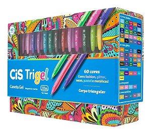 Caneta Gel CIS Trigel Conjunto 60 Cores