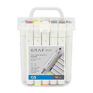 Caneta CIS Graf Duo Conjunto 36 cores