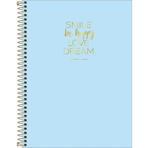 Caderno Tilibra Happy Universitario 1 Materia Azul