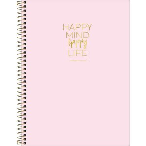 Caderno Tilibra Happy Universitario 1 Materia Rosa