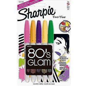 Caneta Sharpie Marcador Permanente 5 cores - 80's Glam