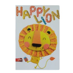 Caderno MarMar Zoo A4 Pautado Happy Lion
