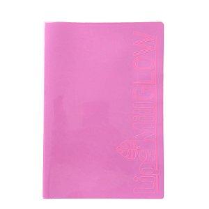 Caderno MarMar Glow A4 Sem Pauta Rosa