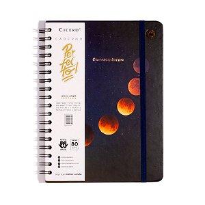 Caderno Cicero Astral Eclipse Lunar Colegial Pautado