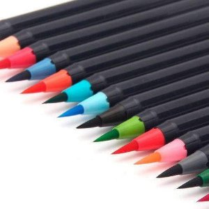 Caneta Ponta Pincel Newpen Brush Kit 25 Cores