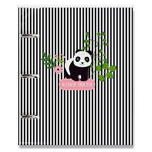 Caderno argolado Panda Fina Ideia