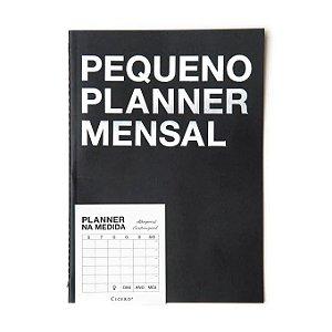 Pequeno Planner Mensal Cicero Preto A5