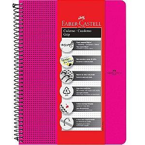 Caderno Grip Faber Castell Pautado 80fls Rosa A4