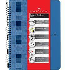 Caderno Grip Faber Castell Pautado 80fls Azul A4