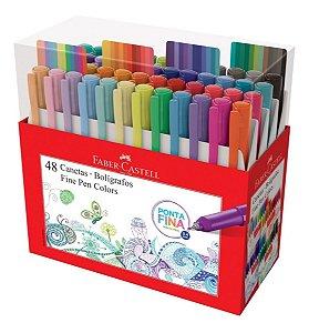 Caneta Fine Pen Faber Castell Kit 48 Cores