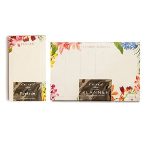 Kit Blocos Cicero Floresta Tropical Planner Semanal + Ideias