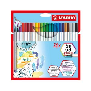 Stabilo Brush Pen 68 Kit 24 canetas