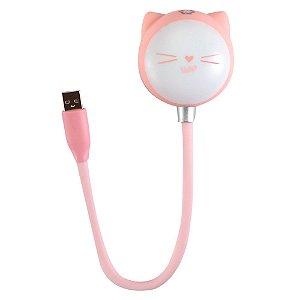 Luminaria Led com Speaker USB Uatt - Gatinha