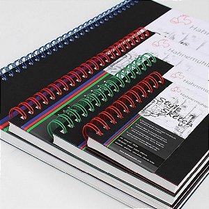 Caderno de Desenho Hahnemuhle A5 120g Style Sketch Espiral Vermelha