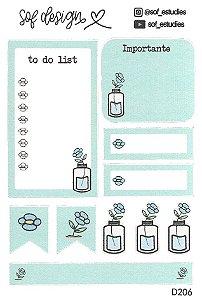 Cartela de Adesivos Decorados Sof Design - D206
