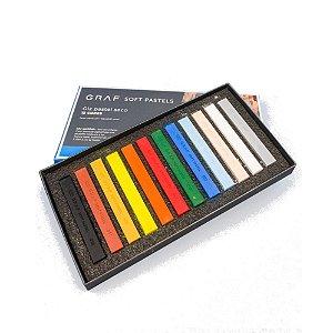 Giz Pastel Seco Graf Soft Pastels 12 Cores Básicas