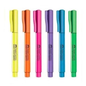 Marca Texto Neon Faber Castell Grifpen 6 Cores