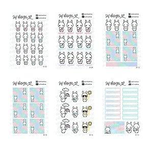 Kit com 12 Cartelas de Adesivos Decorados Sof Design Bloom
