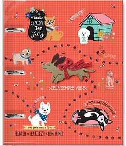 Caderno Argolado Cachorro Amigo Fina Ideia