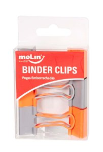 Clips de Papel Binder Soft Touch 25mm Molin Kit c/6