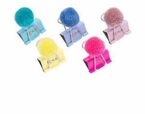 Clips de Papel Binder Pom Pom 25mm Molin Kit c/5