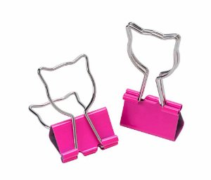 Clips de Papel Binder Gato 25mm Molin Kit c/ 4