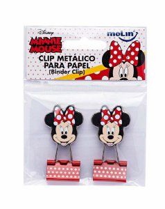 Clips de Papel Binder Minnie Molin Kit c/ 2
