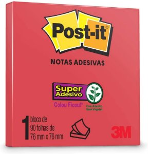 Post it Notas Adesivas 76x76mm 90 folhas