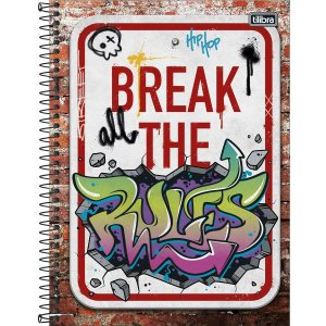 Caderno Tilibra Grafiti Universitario 1 Materia Break the Rules