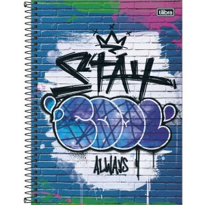 Caderno Tilibra Grafiti Universitario 1 Materia Stay Cool