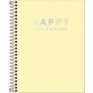 Caderno Tilibra Happy Colegial 10 Matérias Amarelo