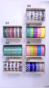 Washi Tape Global master Kits 5 unidades