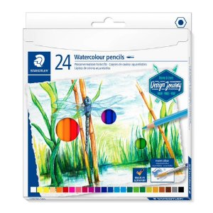 Lapis de Cor Aquarelavel Staedtler 24 cores Design Journey