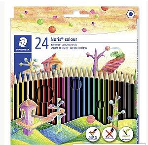 Lapis de Cor Staedtler Noris Colour 24 Cores