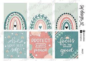 Cartela de Adesivos Decorados Sof Design  - FB107