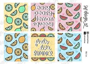 Cartela de Adesivos Decorados Sof Design - FB114