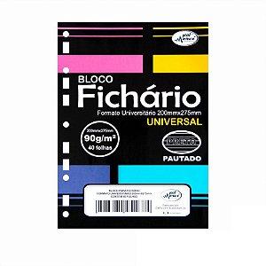 Folhas de Fichario 90g Pautadas Papel Preto Tamanho universitário Merci