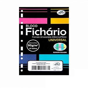 Folhas de Fichario 90g Quadriculadas Candy Colors Tamanho Universitário Merci