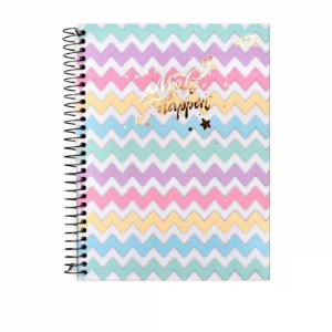 Caderno Colegial Make It Happen Chevron 80 folhas 90g Merci